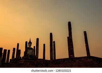 Sukhothai Historical Park is the Sukhothai Historical Site The administrative center of Sukhothai Kingdom , Sukhothai Province : Thailand