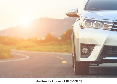 SUKHOTHAI, THAILAND - SEPTEMBER 25 : Toyota Corolla Altis parking on the asphalt road in Sukhothai on September 25, 2018. The official dealer of Toyota, who is the top market share for commercial car.