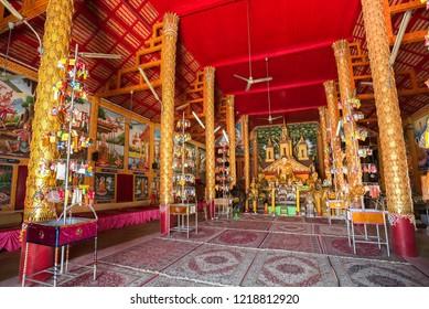 Sukhothai, Thailand - September 29, 2018 : Gorgeous temple Wat Thung Saliam in Sukhothai province, Thailand. This temple is the travel destination for Sukhothai trip.