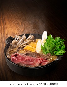 Sukiyaki is a Japanese dish in the nabemono (Japanese steam- boat) style
