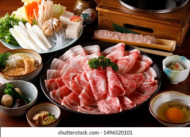 Sukiyaki Japanese food shabu shabu