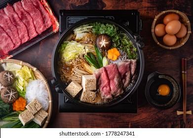 sukiyaki, japanese traditional hot pot