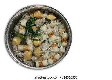 Sukiyaki | A pork, fish tofu, crab stick and Vegetable boiled in large pot at Bangkok, Thailand Family day, happy eating.