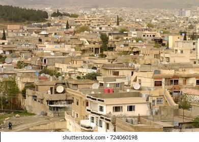 Sulaymaniyah,Iraq - April 04,2006 : View of central Sulaymaniyah, Iraqi Kurdistan