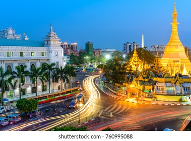 Sule Pagoda is a Burmese stupa located in heart of downtown Yangon, occupying the centre of the city and an important space in contemporary Burmese culture