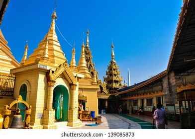 Sule pagoda in Yangon, Myanmar. Myanmar (Burma) is the most religious Buddhist country in terms of the proportion of monks in the population and proportion of income spent on religion.