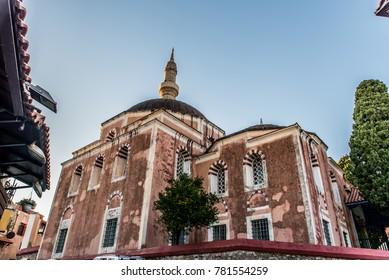 Suleiman Mosque in Rhodes medieval town, Greece