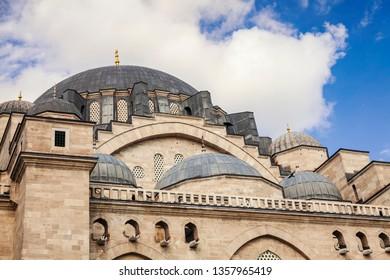 Suleymaniye mosque exterior. Istanbul, Turkey.