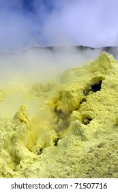 Sulfur from Galapagos Volcanic Crater