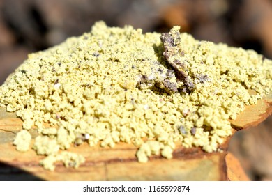 Sulfur Powder Background