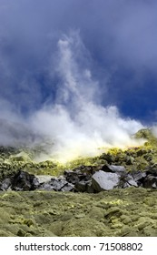 Sulfur Volcanic Activity at Galapagos