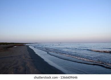 Sulina beach near sulina estuary. The easternmost piece of Romanian. Danube biosphere reserve - Danube delta, Romania.