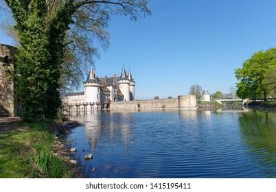 Sully sur Loire park in Centre-Val de Loire region