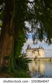 Sully-Sur-Loire castle along th Loire river in the morning, The Chateaux of the Loire Valley