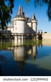 SULLY-SUR-LOIRE, FRANCE - OCTOBER 11, 2018: Famous medieval castle Sully-sur-Loire, Loire valley, France