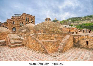 Sulphur baths in Abanotubani, old part in Tbilisi, Georgia.