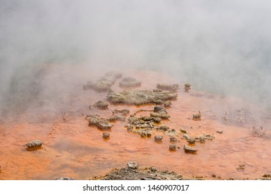 sulphur lake at Rotorua in New Zealand