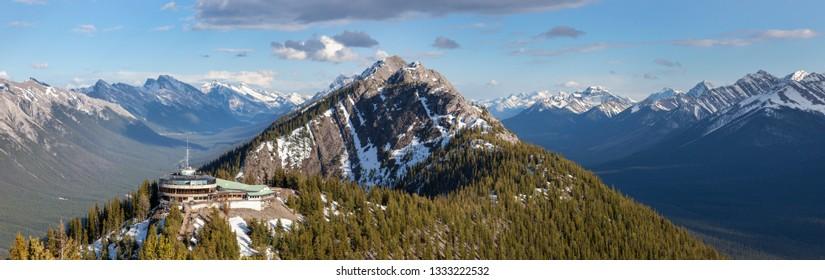 Sulphur Mountain in Banff National Park. Alberta, Canada.