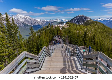 Sulphur Mountain top is visited by thousands of tourists every year.