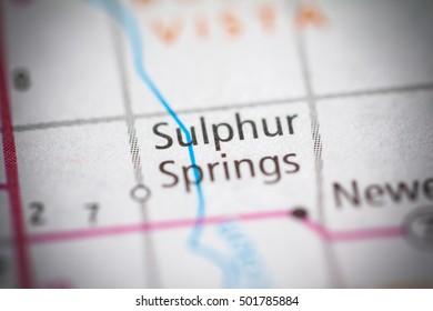 Sulphur Springs. Iowa. USA.