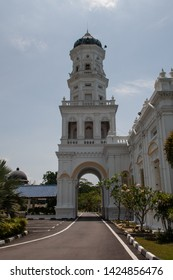 Sultan Abu Bakar State Mosque Building in Johor Bahru in Malaysia. The mosque was built between 1892 and 1900 and was named after the ruling Sultan at the time.