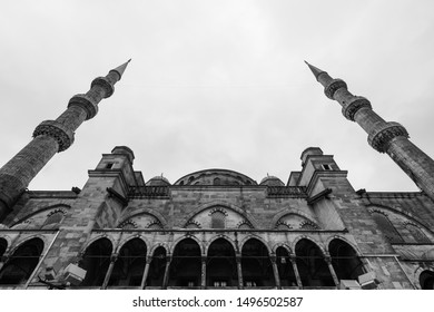 Sultan Ahmed Mosque or Blue Mosque-Istanbul,Turkey -Black and white Tone.