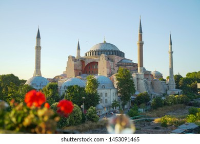sultan ahmed mosque exterior in istanbul turkey, the biggest mosque in Istanbul of Sultan Ahmed (Ottoman Empire).