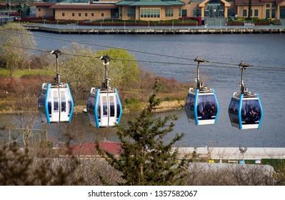 Eyüp Sultan cable car,Eyup,Istanbul,Turkey,March 2019