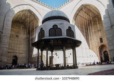 Sultan Hassan mosque in Cairo - Egypt, February 2017 , during Friday prayers