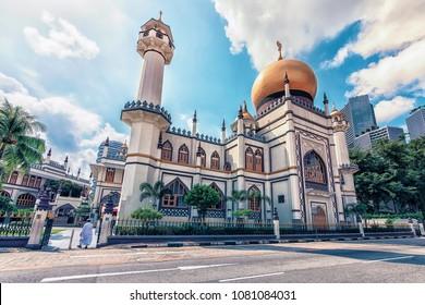 Sultan mosque in Singapore city