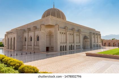 Sultan Qaboos Grand Mosque, Muscat, Oman (no people)