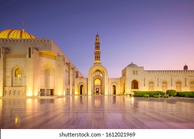 Sultan Qaboos Grand Mosque, Muscat, Oman,  Islamic Architecture