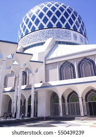 Sultan Salahuddin Abdul Aziz Mosque in Shah Alam, Malaysia. It is known as Blue Mosque.