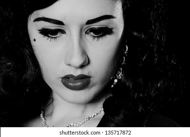 sultry burlesque styled model