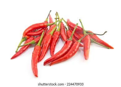 sum chili pepper isolated on a white background