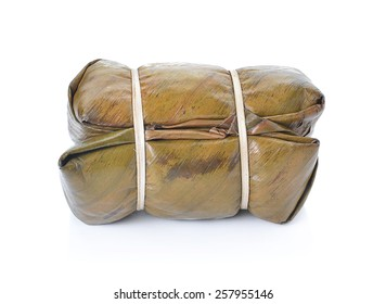 suman isolated on white background, thai food