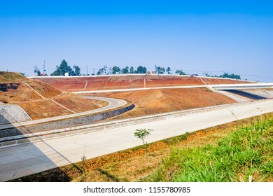 Sumedang, West Java / Indonesia - August 09th 2018: Cisumdawu Toll Road Under Construction (Bandung to Cirebon)