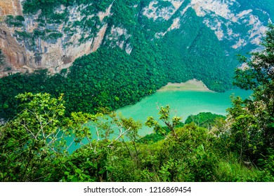 Sumidero canyon view. National Park in Chiapas, Mexico.