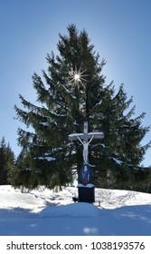 sumit cross on Zinnkopf in the german alps