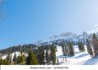 sumit of Moutain Kampenwand, view from north, Bavaria, Germany