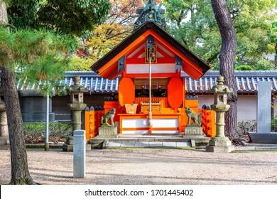 Sumiyoshi Taisha Shinto Shrine in Osaka, Japan. Sumiyoshi Grand Shrine or Sumiyoshi Taisha in osaka city, Kansai, Osaka, Japan.