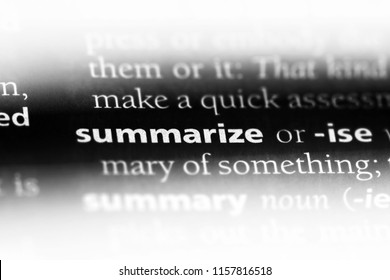 summarize word in a dictionary. summarize concept.