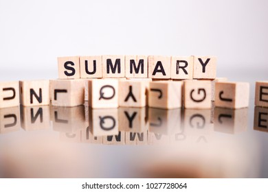 Summary word cube on reflection