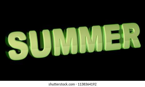Summer. 3D Illustration.