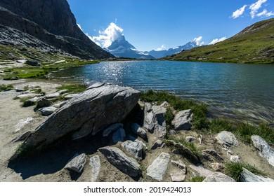 Summer Afternoon at Riffelsee, Zermatt