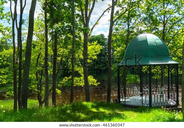 summer alcove in Latvia