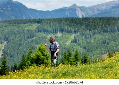 Summer alpine landscape in Tirol.