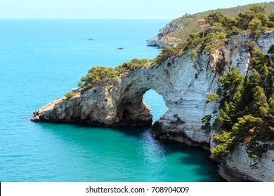 Summer Architello (Arch) of San Felice on the Gargano peninsula in Puglia, Italy