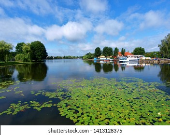 Summer in Augustow.  Augustow, Poland - July 08, 2012 Picturesque landscape at Niecko lake in Augustow.