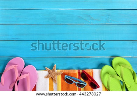 9709771f77e2a Summer Background Beach Border Sunglasses Flip Stock Photo (Edit Now ...